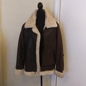 🐑🐐Vintage St John's Bay Leather Jacket Size L